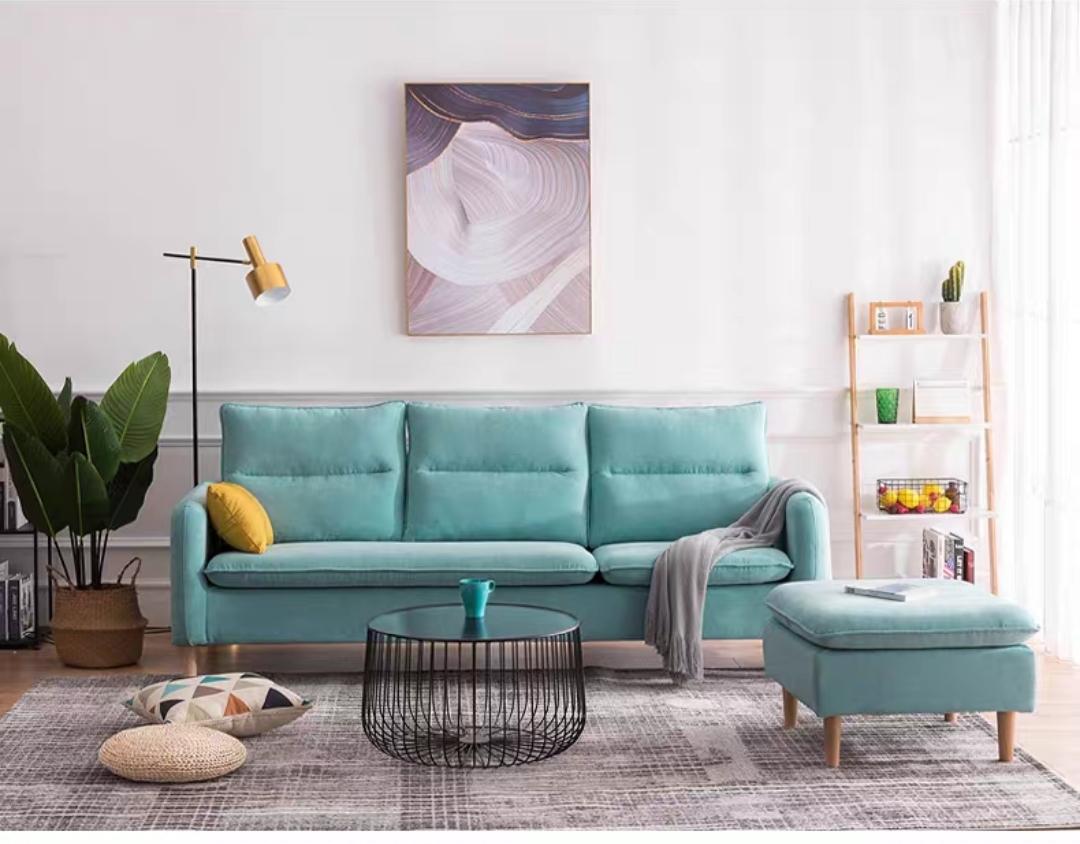 蓝色小户型沙发