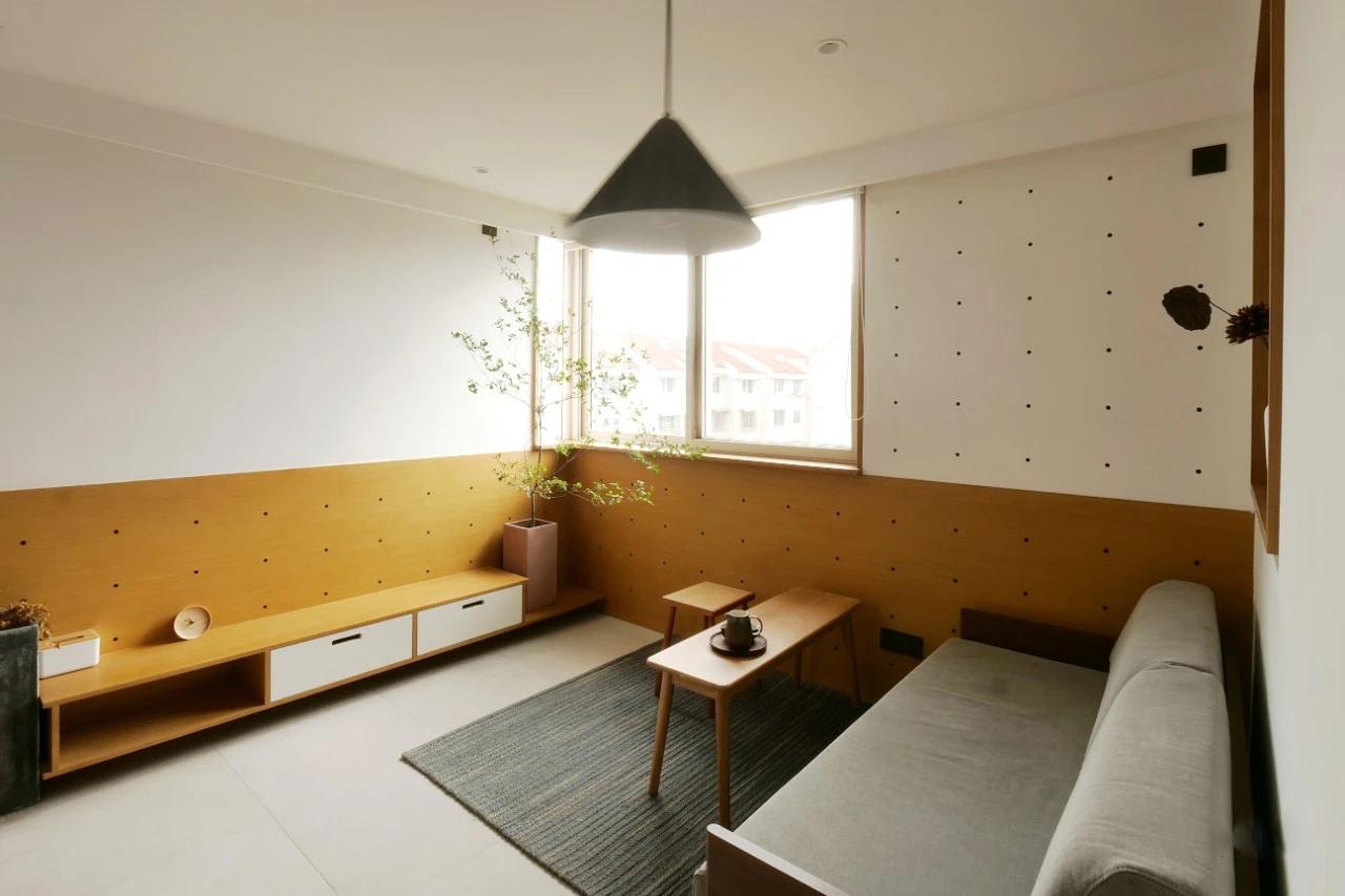 日系拼色背景墙
