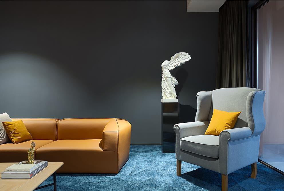 双动线无背景墙设计边椅.