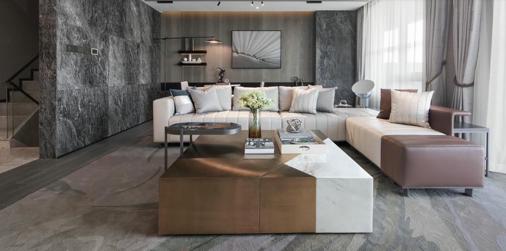 大理石灰色客厅