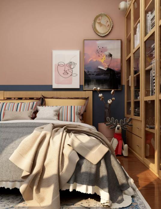 脏粉色儿童房