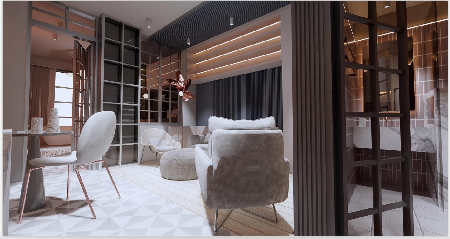 一居室俯客厅