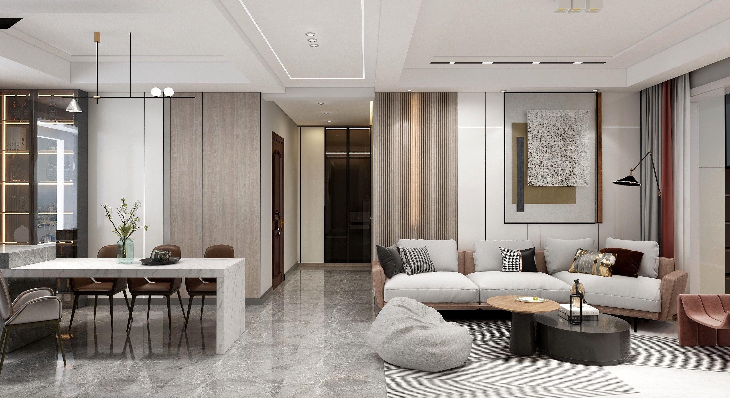 碧桂园御府144客厅设计