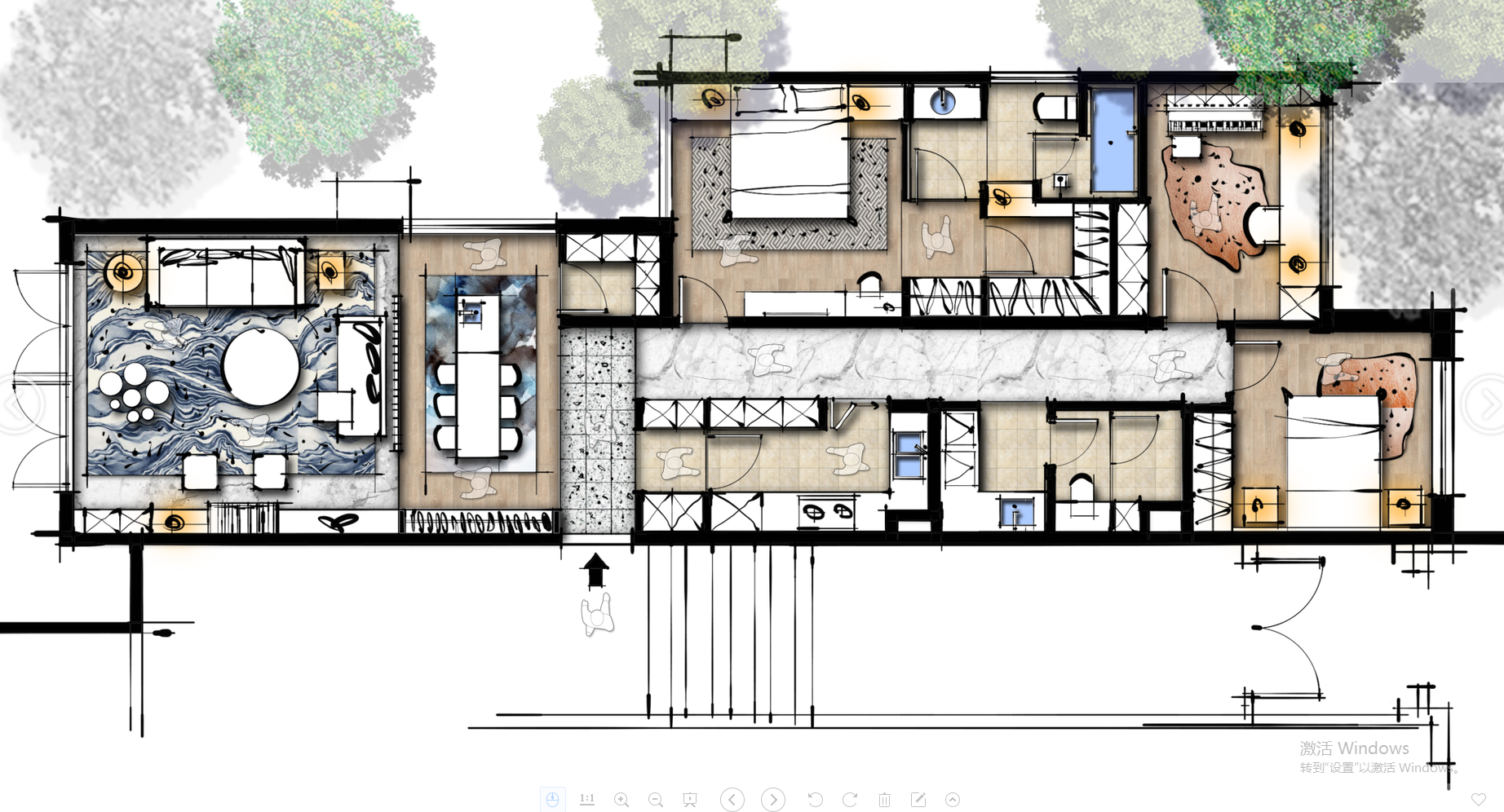 户型优化方案联排别墅