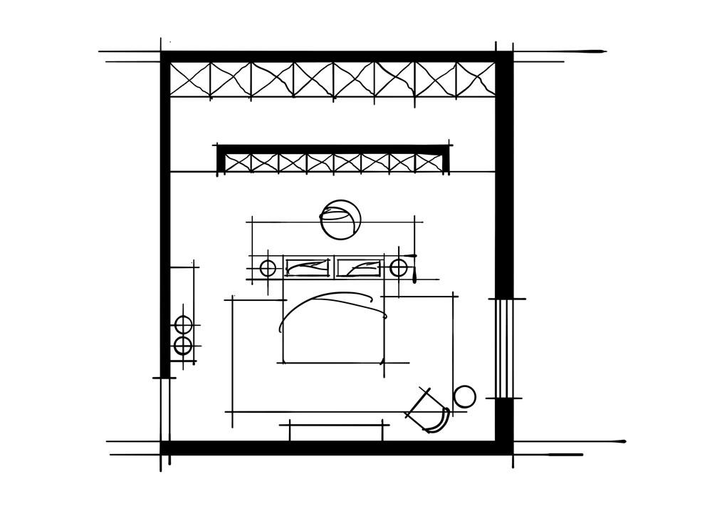 室内设计中的十种做法-平行式衣柜卧室