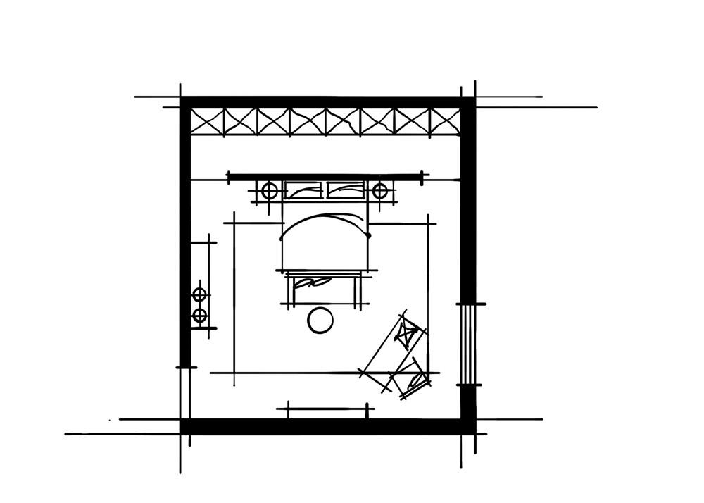 室内设计中的十种做法-组合大空间组合板块卧室