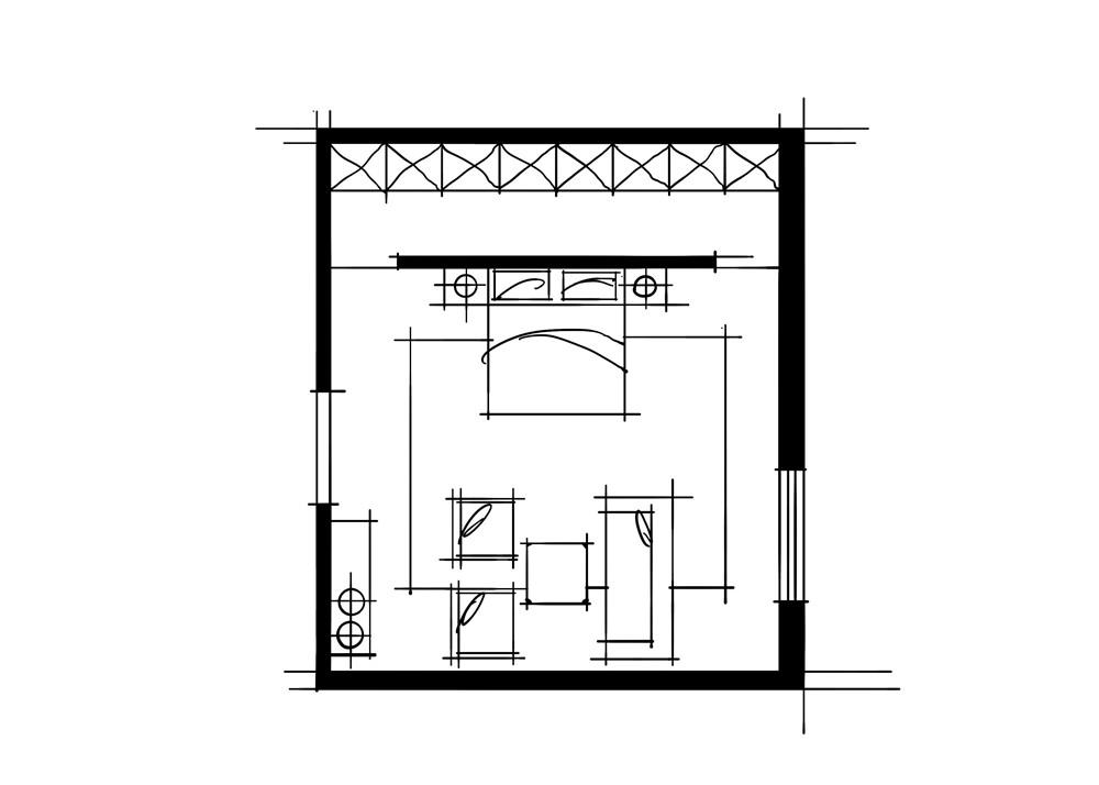 室内设计中的十种做法-自带起居室的卧室空间