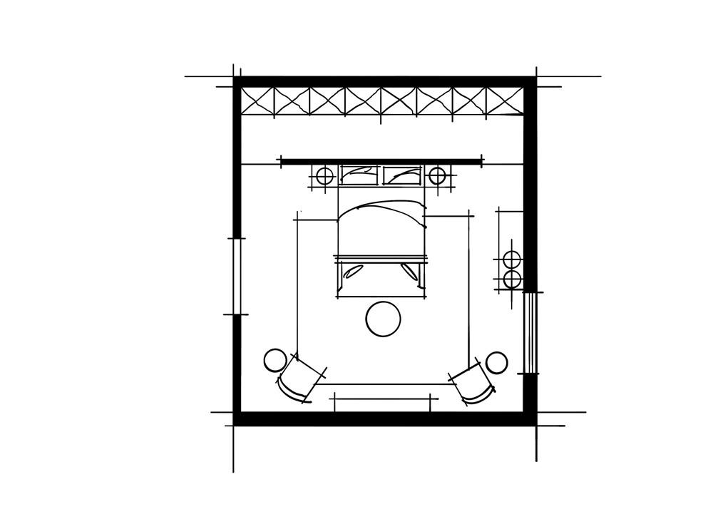 室内设计中的十种做法-环绕动线空间卧室组合关系