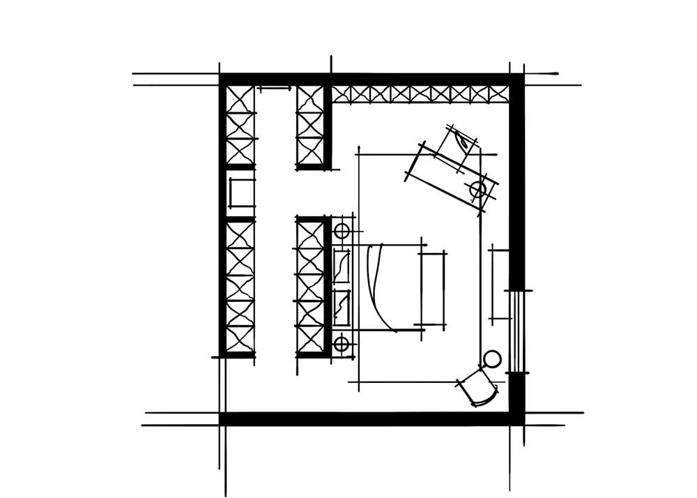 室内设计中的十种做法-空间组织关系重组平行式空间