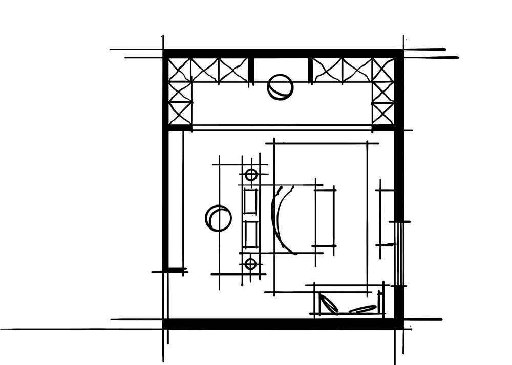 室内设计中的十种做法-玄关端景卧室组合空间
