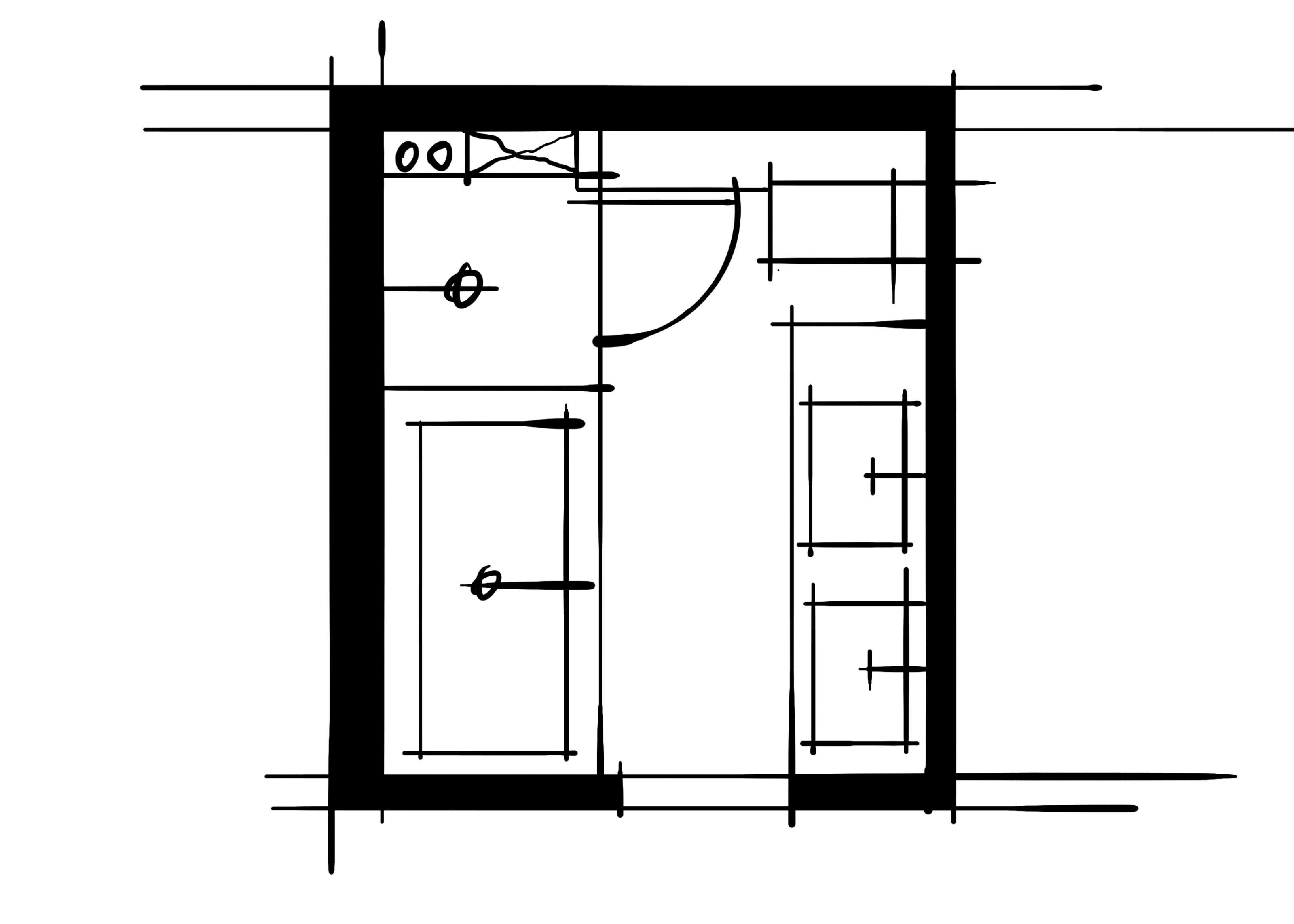室内设计八大空间的十种做法-主卫(平行空间的组合关系)
