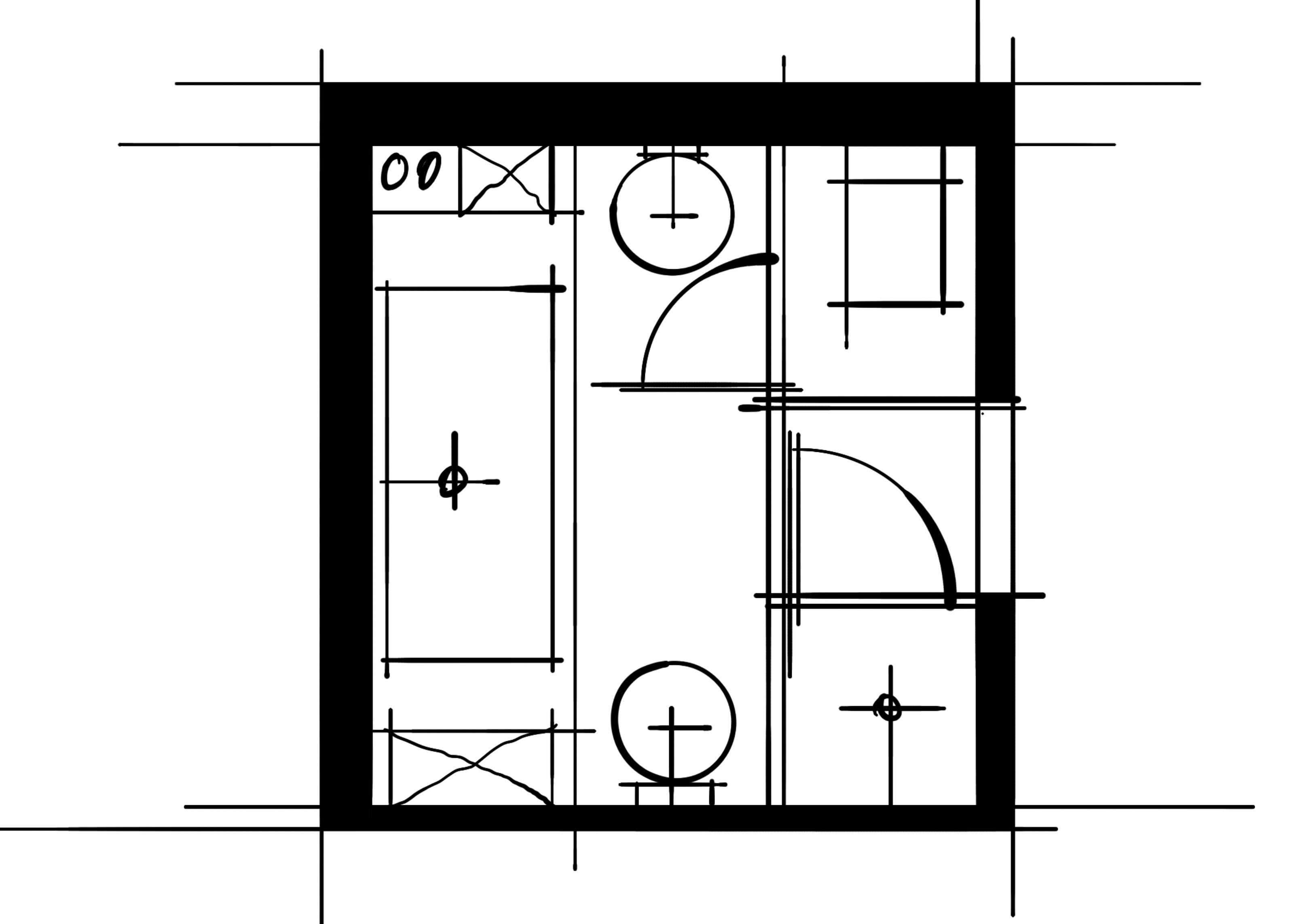 室内设计八大空间的十种做法-主卫(对称空间组合)