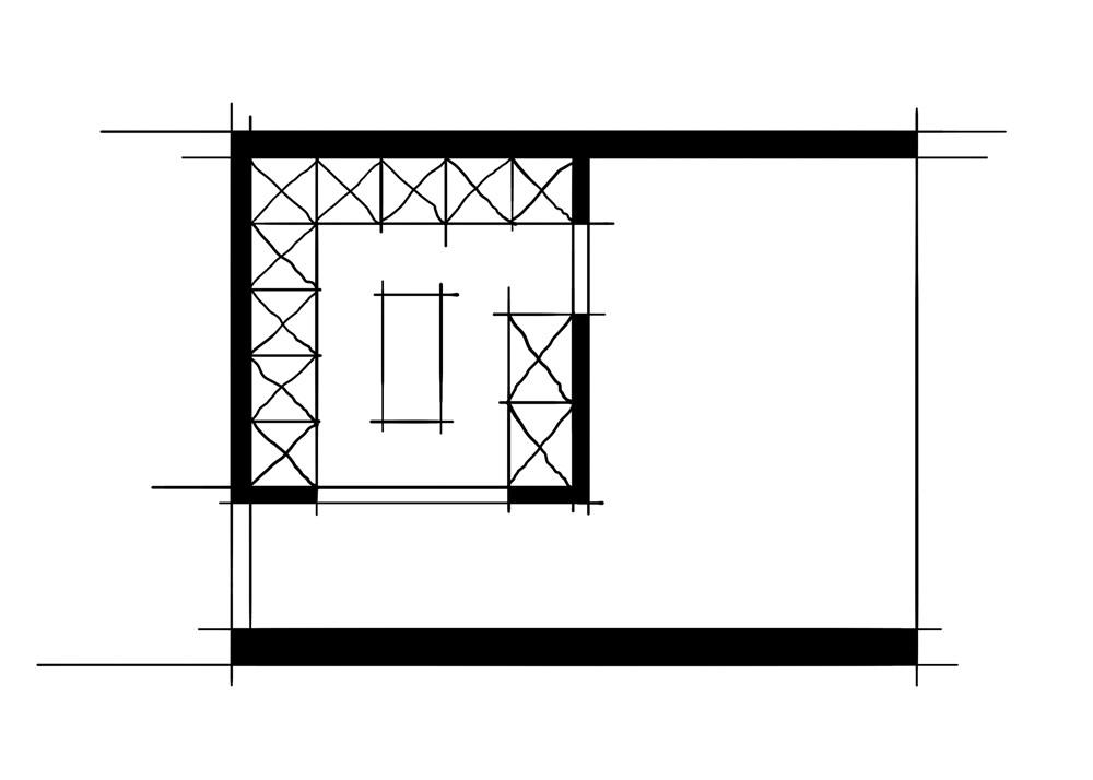 室内设计八大空间的十种做法-衣帽间双动线衣帽间)