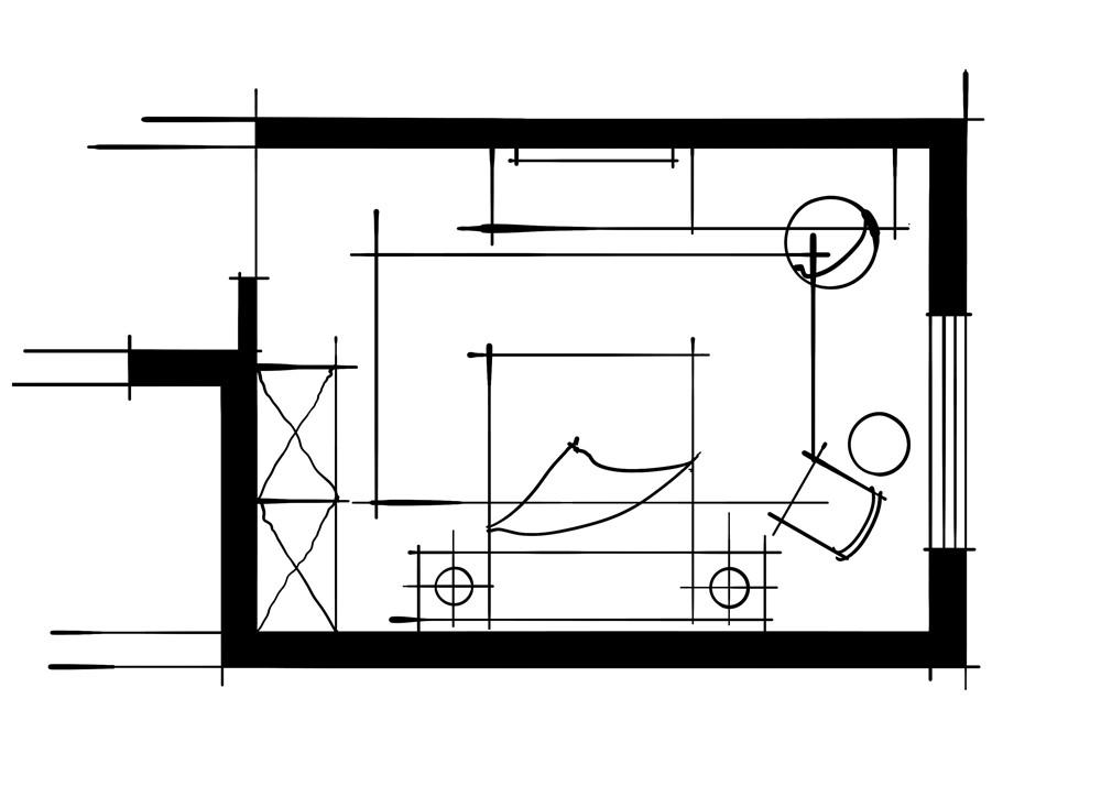 室内设计八大空间的十种做法-客卧(电视柜+梳妆台)