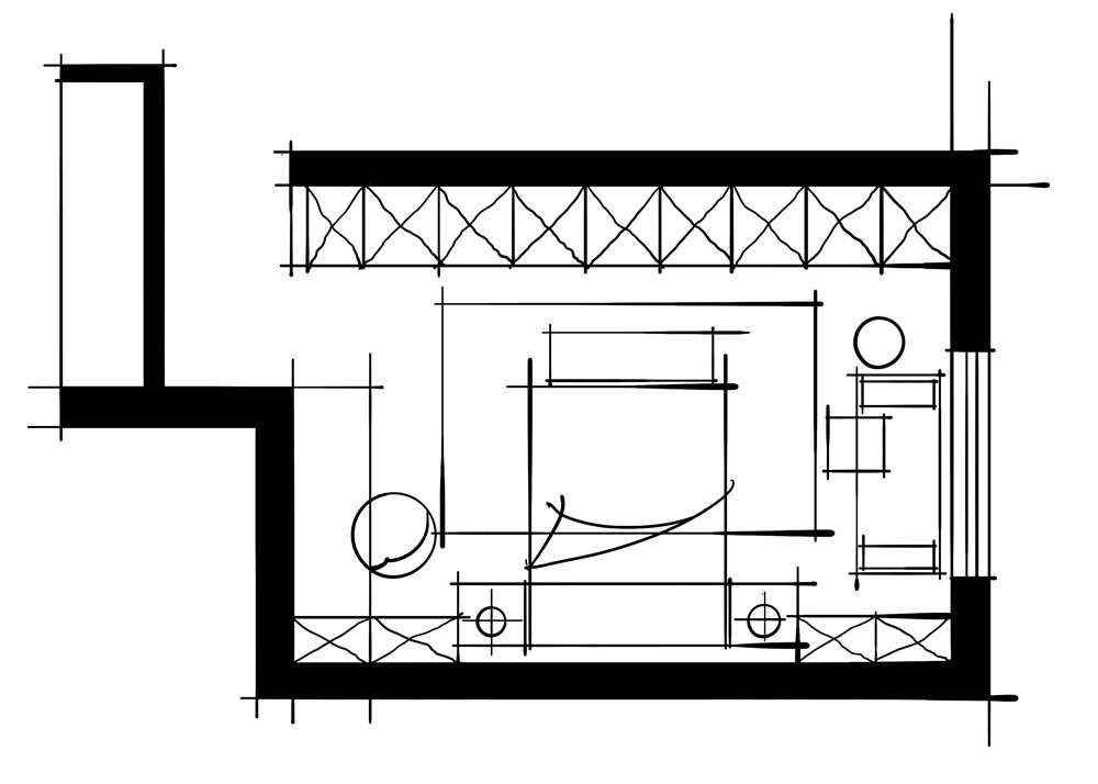 室内设计八大空间的十种做法-客卧(平行空间衣帽间)