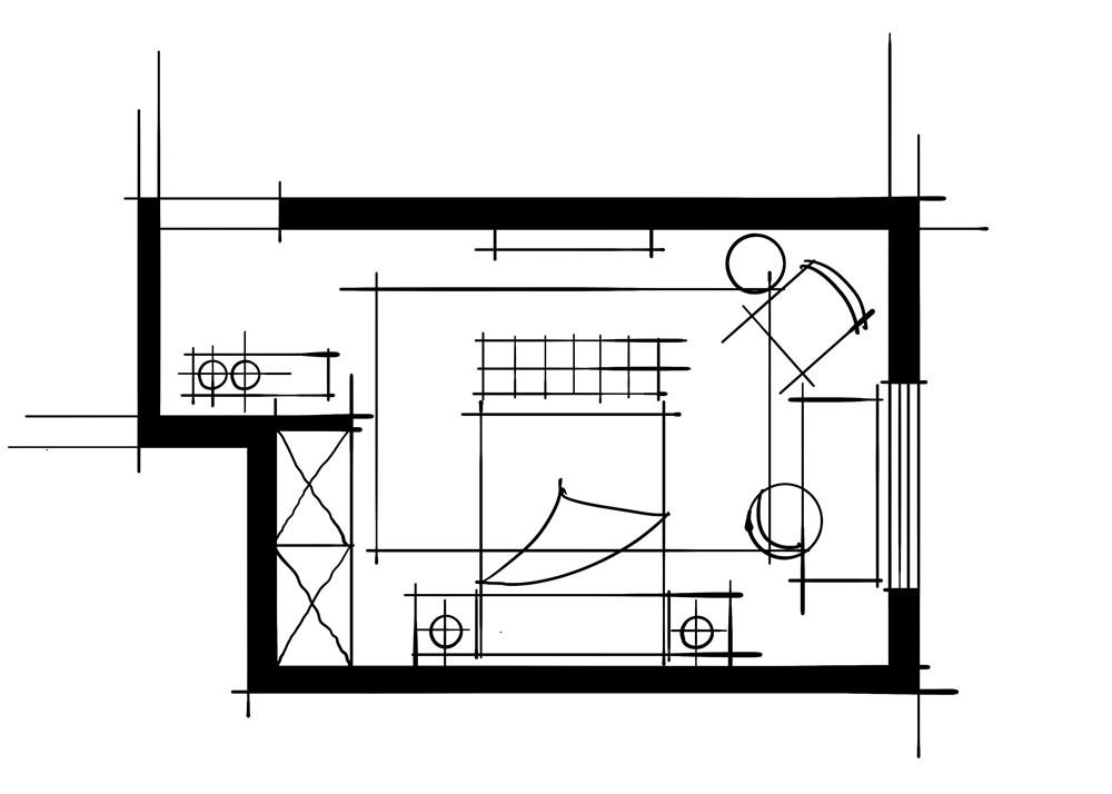 室内设计八大空间的十种做法-客卧(一步一景空间组合关系客卧)