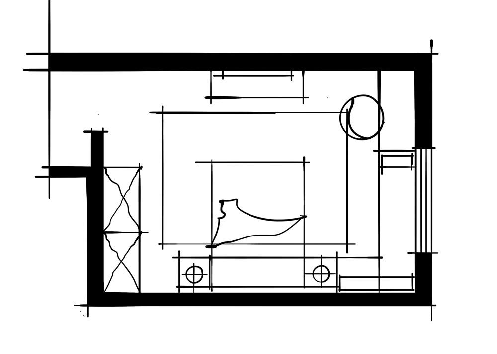 室内设计八大空间的十种做法-客卧(回字形空间组合卧室方案)
