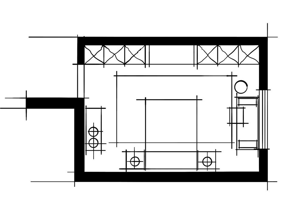 室内设计八大空间的十种做法-客卧(休闲端景空间设计方案)